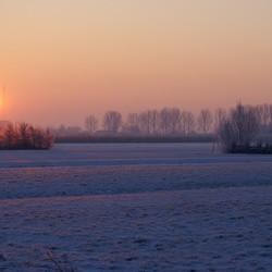 winter  in de vroege morgen