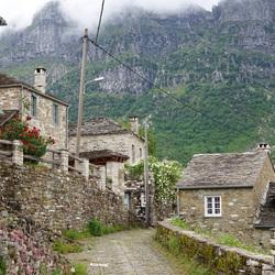 nevel in het dorp