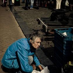 Op de markt in Groningen