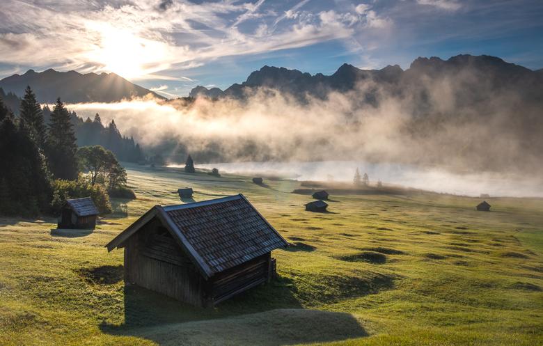 Geroldsee - Twee ochtenden bij de Geroldsee in Beieren, Duitsland.<br /> <br /> De eerste ochtend was het zo mistig dat we besloten om een extra nac