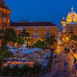 Cartagena de Indias blauwe uur