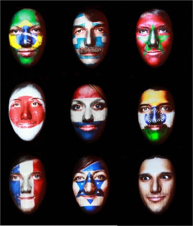 Faces GLOW12 - Ik heb even een collage gemaakt van de verschillende faces in Eindhoven