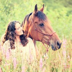 Inge met paard