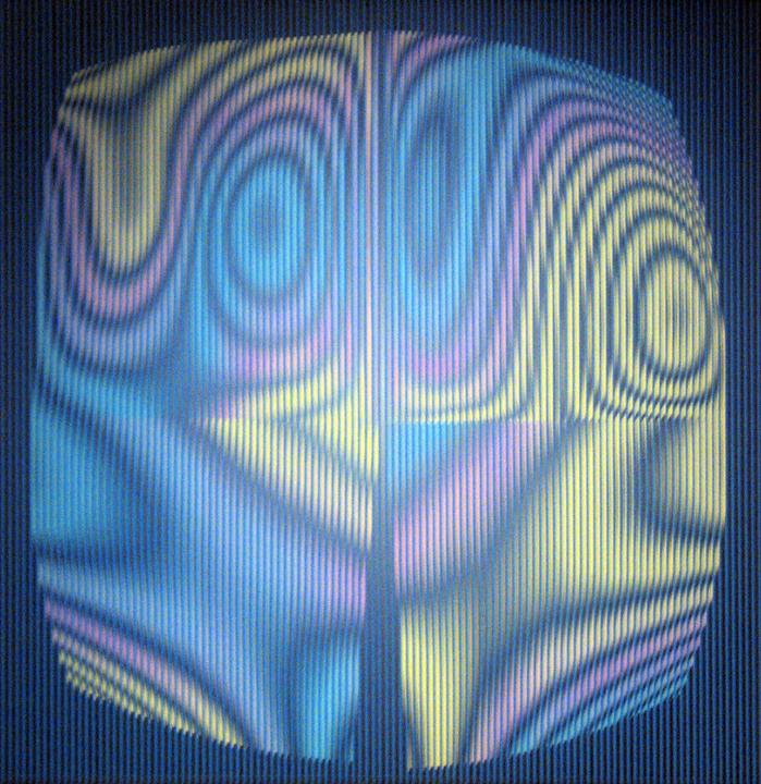 reflectie - reflectie op vloerkleed niets digitaal bewerkt gewoon gezien daar door asymmetrisch