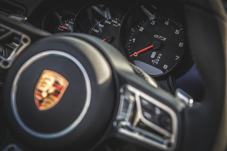 Porsche - Detailfoto/productfoto van de nieuwe Porsche GtS