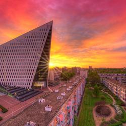 Zonsondergang in Den Haag