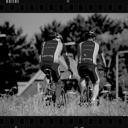 Landscape cyclists