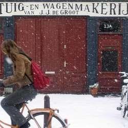 Fiets en sneeuw