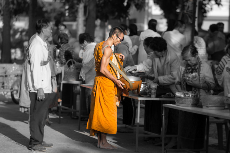 Donation to monk -