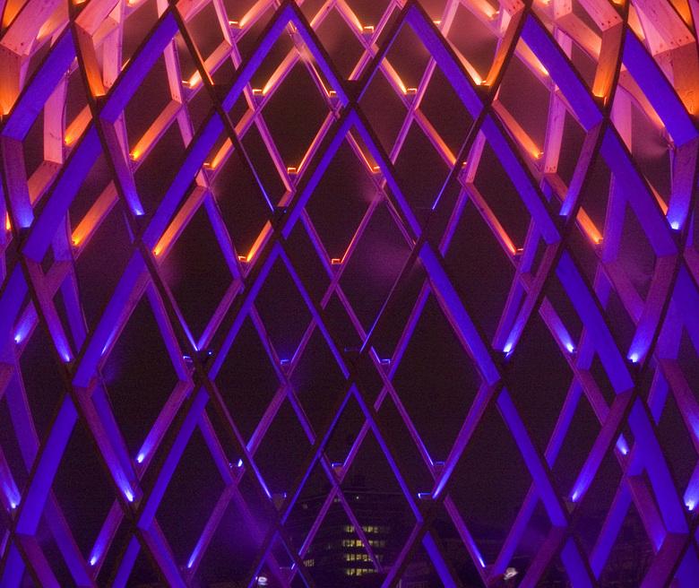 Colours - Lichtsculptuur tijdens het Lichtfestival Amsterdam