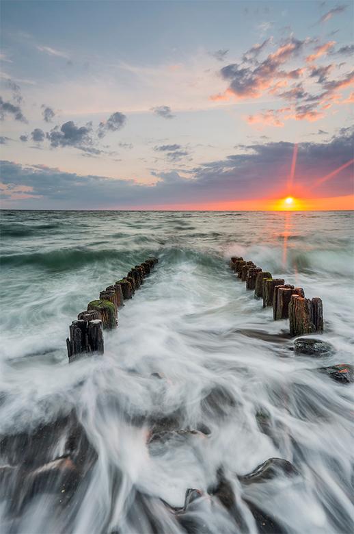Dynamische zonsondergang...