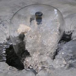 IJsvorming en waterfontein