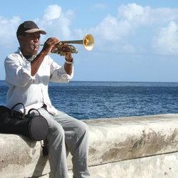 Man met trompet