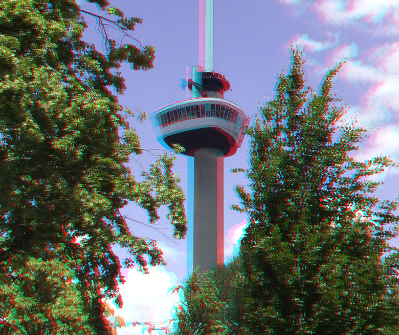 Euromast Rotterdam 3D - Euromast Rotterdam 3D<br /> anaglyph stereo red/cyan