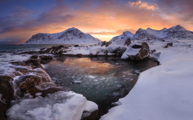 Zonsopgang in de Lofoten
