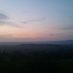 Zonsondergang in Polen