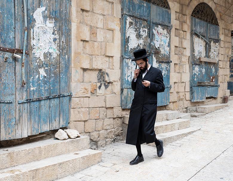 Orthodoxe Jood in Safed Israel