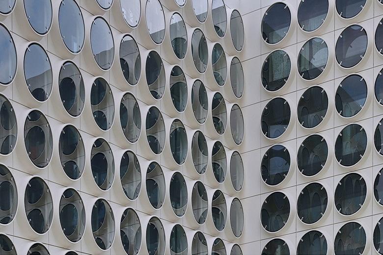 Studentencomplex. - Residence, het Innovatieve Studentencomplex vernoemd naar de Franse componist Maurice Ravel. Zuidas Amsterdam<br /> <br /> 4 aug