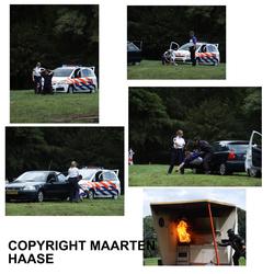 brandweer en politie colage