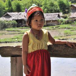 lokale bewoners van een stam in thailand