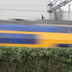 Trein gespot tijdens de Canon EOS cursus