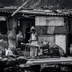 Sloppenwijk in Mumbai