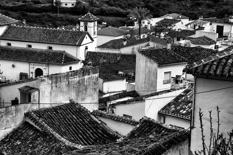 Spanje 44 - Zo'n stadsgezicht nodigt uit tot zwartwit.