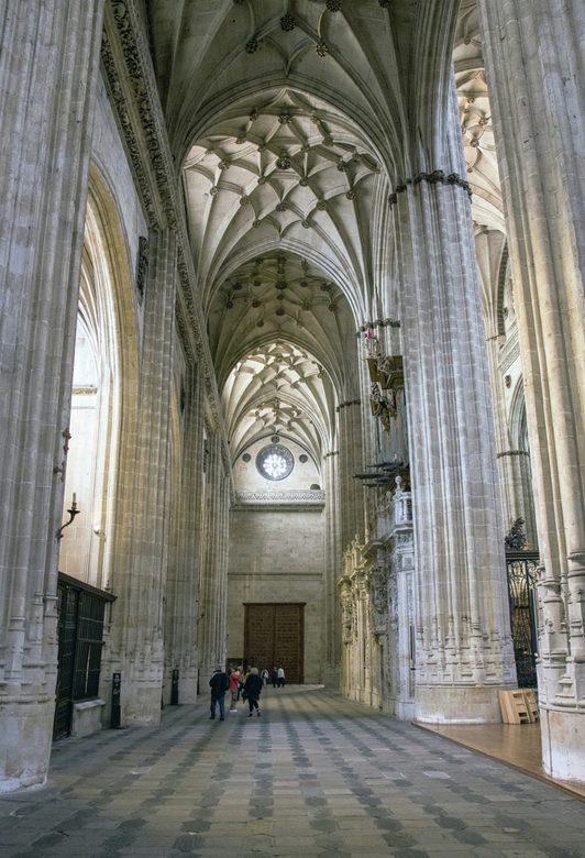 Spanje 117 - Deel van de kathedraal van Salamanca.
