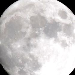 Moon is shining