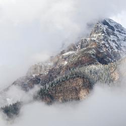 Devils mountain in de mist