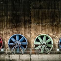 Gekleurde ventilators in Duisburg