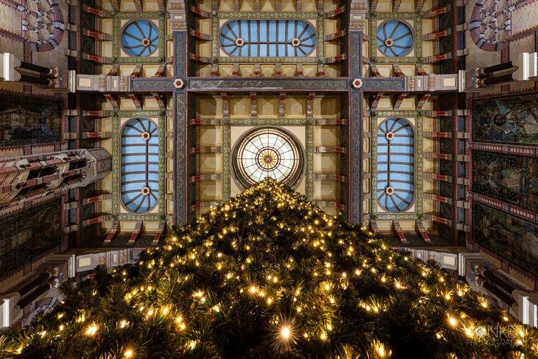 perspective  - Ons prachtige station is nu tijdelijker nog mooier met een gave kerstboom! Gemaakt vanuit een kikker perspectief.