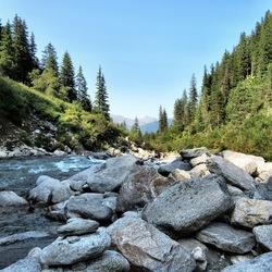 rivier de Krimml. Oostenrijk.