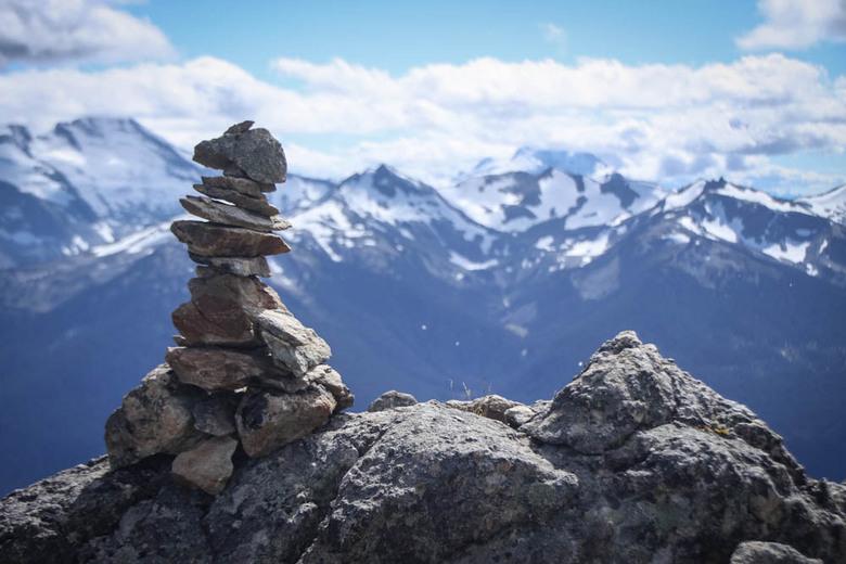 Little rock, big rock - Top Whistler Mountain in Whistler