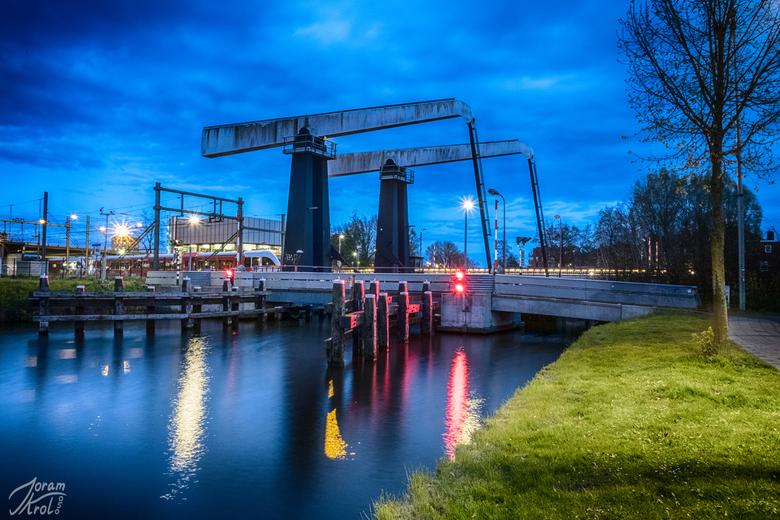 Spoorbrug - Een spoorbrug vlakbij Groningen Centraal