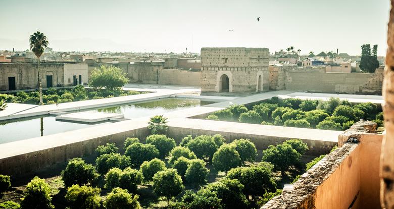 paleis - Je waant je even een paar eeuwen terug wanneer je dit oude paleis bezoekt in Marrakech.