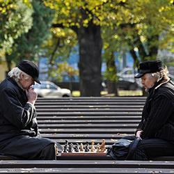 Riga openlucht schaken