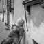Siesta op straat in Italie