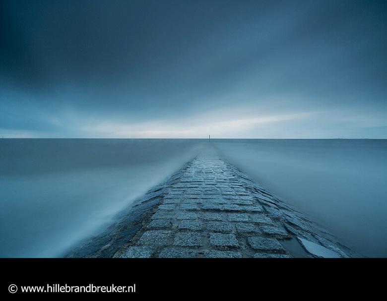 Blurry Blue - Long exposure op het strand van Cuxhaven