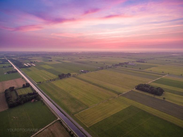 Zonsondergang met drone