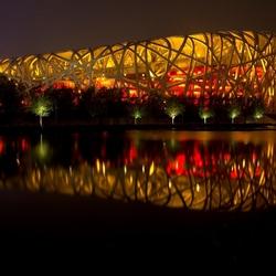birds nest olympisch stadion in Beijing