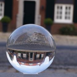 Foto met de glazen bol van ons vakantie verblijf.