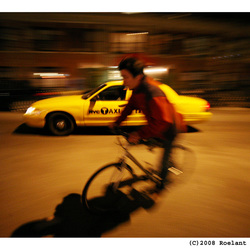 Fiets/Taxi in New York