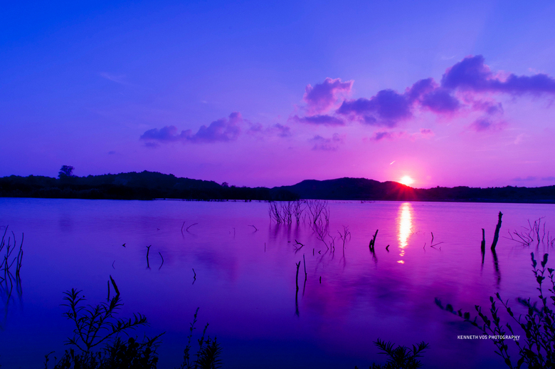 Purple Summer Day - Op deze mooie zomeravond in september mijn ND filter uitgeprobeerd bij dit watergebied in het Nationaal Park Zuid-Kennemerland nab