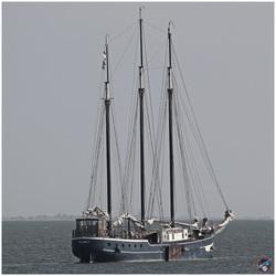 Lekker dobberen op het IJsselmeer ...