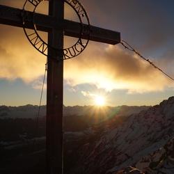 Last Light in the Alps