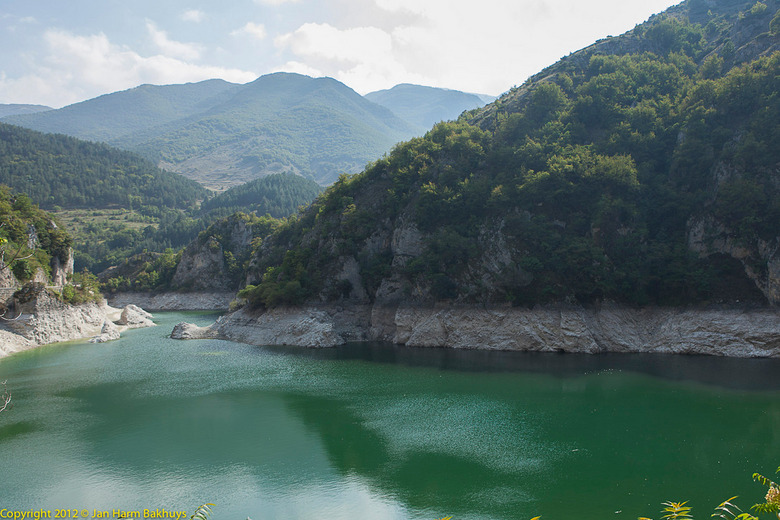 Route naar Scanno - Op weg naar Scanno (Italie) passeer je dit uitzicht