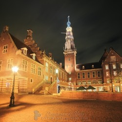 Leiden city hall in de nacht