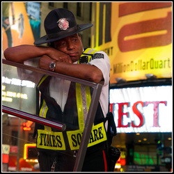 Guard on Times Square NY