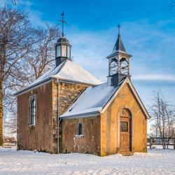 Fischbach Kapel in de sneeuw
